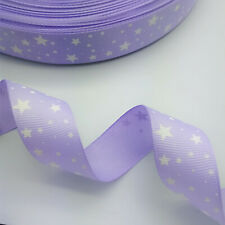 New 25mm 38mm 5 Yards Printed Fivepointed Star Ribbon Multicolor Hair Bow Party
