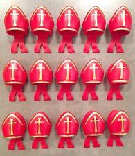 Playmobil St Nicholas Hats Exclusive Bishop 4893 Cardinal Soldiers Bid X15 Toys