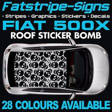 FIAT 500X GRAPHICS STICKER BOMB ROOF DECALS STICKERS STRIPES  ABARTH 1.6 SKULL