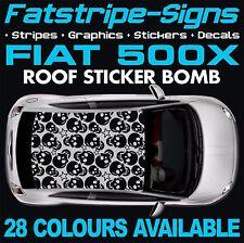 FIAT 500X GRAPHICS STICKER BOMB ROOF DECALS STICKERS STRIPES  ABARTH 1.6 SKULL