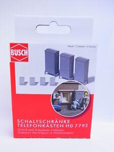 Lot 49264 Busch H0 7792 Control Cabinets Telefonkästen Set Modelmaking New Boxed