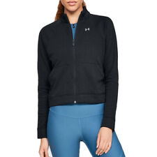 Under Armour UA Ladies Favourite Terry Black Full Zip Warm Up Bomber Jacket