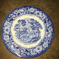 """Liberty Blue Colonial Scenic Plate 6"""" made in England Staffordshire Ironstone"""