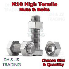 M10 Set Screws Bolts And Nuts High Tensile 8.8 Full Thread Zinc Plated Setscrews