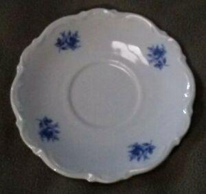 """Mitterteich Bavaria Germany """"meissen blue"""" collectible 6"""" plate saucer baroque"""