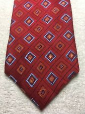 BELLINI MENS TIE RED WITH BLUE AND ORANGE 3.75 X 57 NWOT