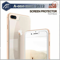 iPhone 11 Pro XS Max 8Plus Front&Back Tempered Glass Screen Protector Clear Film
