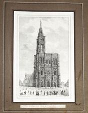 c1840 Strasbourg Strassburg Elsass Alsace Lithographie Perrin Simon
