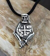 ATOCHA Coin Design 1600-1700 Silver Skull Pirate Pendant Sunken Treasure Jewelry