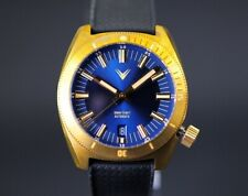 Brand New Ventus Northstar N-6 Azure Blue Brass Automatic Diver Watch From Zelos