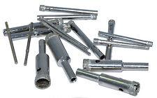Diamond tip drill bits - suitable for Dremel drills - 10 per pack. 2-3-4mm