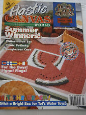 July 1994 Plastic Canvas World Pattern Book Magazine Watermelon Family Tree