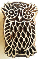 Owl Rare Design Wooden Printing Block/Stamp Textile Fabric Apparel Printing