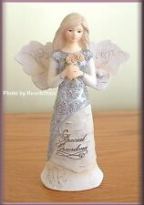 SPECIAL GRANDMA 5.5 INCH ANGEL WITH FLOWERS BY PAVILION ELEMENTS FREE U.S. SHIP