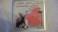 Lait pur de la Vingeanne Stérilisé Advertising Framed Print Girls with Cats