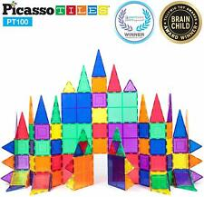 PicassoTiles PT100 100 Piece 3D Magnet Building Tiles