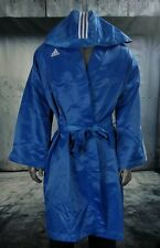 VTG (2001) Adidas Boxing Robe Full Length w/ Hood Size Large XXL Color Blue EUC