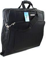 DUA Suit Garment Carrier Wardrobe Travel Luggage Bag with Shoulder Strap Black