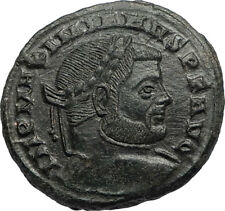 MAXIMIAN Authentic Ancient 310AD Follis Genuine Roman Coin w GENIUS i67072