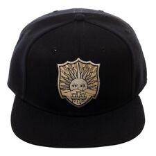 OFFICIAL ANIME BLACK CLOVER GOLDEN DAWN CREST LOGO BLACK SNAPBACK CAP