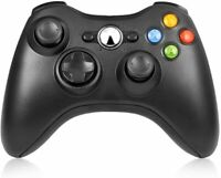 Wireless Game Controller Gamepad for Microsoft XBOX 360/Slim Console Games Black