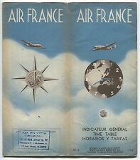 AIR FRANCE TIMETABLE AUGUST 1952 AF NO.4