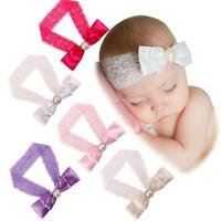 Toddler Baby Cute Girl Kids Elastic Lace Bowknot Hair Band Headband Headwear Hot