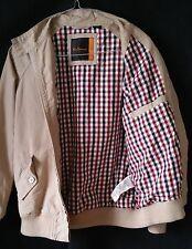 Ben Sherman 100% Cotton Light Beige Bomber Jacket Size M