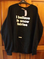 LUSH I Believe In Snow Fairies Jumper / Sweatshirt, XL, New, Swag, Snow Fairy