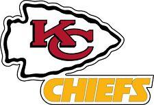 "Kansas City Chiefs NFL Football wall decor sticker Large vinyl decal 12.5""x8"""