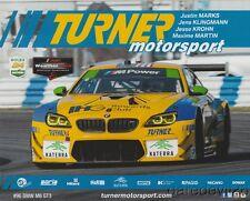 2017 Turner Motorsport BMW M6 GT3 GTD Rolex 24 IMSA WTSC postcard