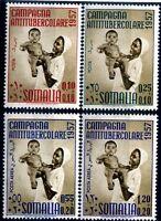 SOMALIA AFIS 1957- CAMPAGNA ANTITUBERCOLARE  PO+PA Serie  Nuova **