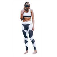 Mujer Estampado Fitness Leggings Deporte Pantalones Ejercicio Atletismo Yoga