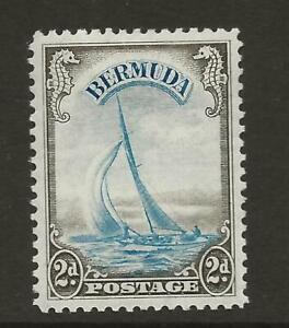BERMUDA 1938-52 SG112 2d Light Blue and Sepia Yacht Fine MINT Cat £50