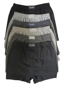 6 Pairs Men's Plain Boxer Shorts Underwear, SockStack Cotton Boxers S M L XL XXL