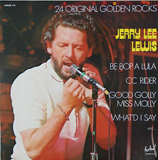 "Vinyle 33T Jerry Lee Lewis  ""24 original golden rocks"""