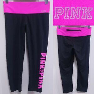 Victorias Secret Hot Pink Skinny Cropped Leggings Size XS Run Pants