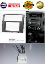Harness + Fascia facia Mitsubishi Pajero Double Two 2 DIN Dash Kit