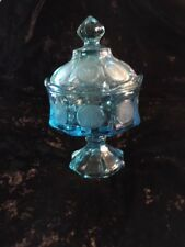 Fostoria Coin Glass Covered and Footed Candy Dish