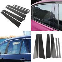 Carbon Fiber Car Window B Pillar Trim Cover For BMW 5 Series F10 2011- 2017 New