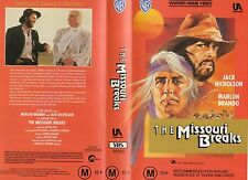 THE MISSOURI BREAKS-Nicholson/Brando-VHS-PAL-NEW-Never played!-Original Oz relea