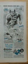 1946 magazine ad for Gillette - Philadelphia Eagle Steve Van Buren, football