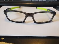 NEW Oakley Crosslink OX8029-0253 Eyeglasses Clear Grey + Lime PERFECT AUTHENTIC