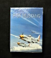"""Vintage P-51 Mustang PLAYING CARDS / """"Original"""" Born Aviation / US Air Force!"""
