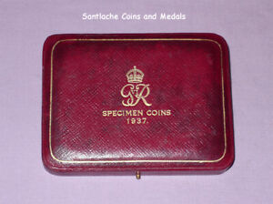 1937 ROYAL MINT GviR CORONATION GOLD PROOF SET COINS - CASE ONLY