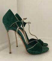 CASADEI Ankle Strap Sandals Size 39 UK 6 High Heel Made in Italy.