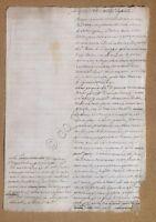 Documento antico - Manoscritto XVIII Secolo - 3 aprile 1789 - carta filigranata