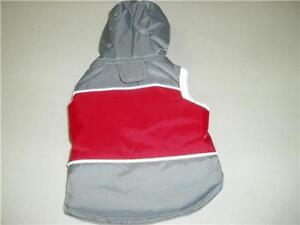 Pet Central Dog Coat Jacket Hoodie Grey/Red