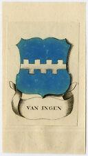 Antique Print-VAN INGEN-COAT OF ARMS-Ferwerda-1781