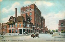 QUINCY ILLINOIS DICK BROTHERS BREWING COMPANY BEER OLD TUCKS POSTCARD VIEW